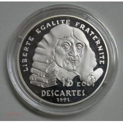 100 Francs DESCARTES 1991 Belle épreuve sous capsule, lartdesgents.fr
