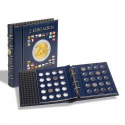 VISTA album numismatique pour pièces de 2 euros (4 feuilles neutres) avec étui L'ART DES GENTS AVIGNON