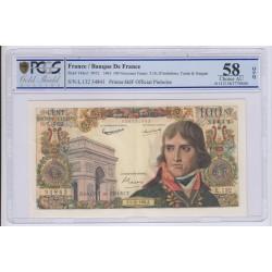 100 nouveaux francs Napoléon Bonaparte 4-6-1959 AU 58 PCGS