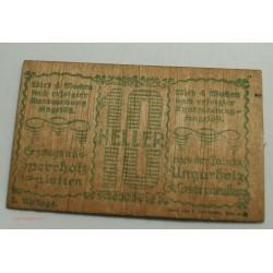 NOTGELD AUTRICHE - 10 et 20 Heller en bois