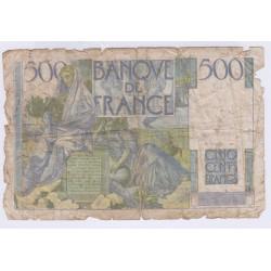 BILLET FRANCE 500 FRANCS CHATEAUBRIAND 13-05-1948 L'ART DES GENTS AVIGNON