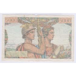 BILLET FRANCE 5000 FRANCS TERRE ET MER  5-04-1951 L'ART DES GENTS AVIGNON