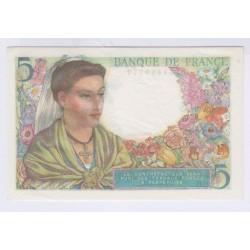 5 FRANCS BERGER 05-04-1945 NEUF L'ART DES GENTS NUMISMATIQUE AVIGNON