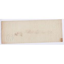 BILLET A ORDRE 1798 l'art des gents  AVIGNON