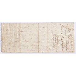 BILLET A ORDRE 1803 l'art des gents  AVIGNON