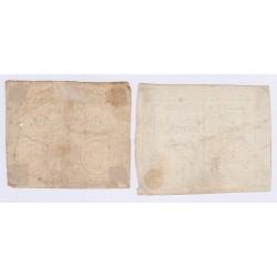 FRANCE LOT DE 3 ASSIGNATS 1792-1793 15-25-50 SOLS l'art des gents Avignon