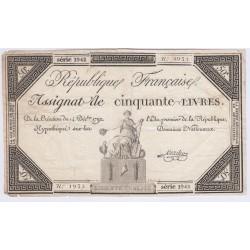 FRANCE ASSIGNAT 50 Livres 1792 l' Art Des Gents Numismatique Avignon