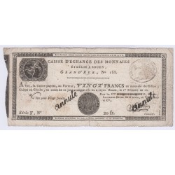 FRANCE CAISSE D'ECHANGE 20 FRANCS AN 10  ANNULE l' Art Des Gents  Numismatique