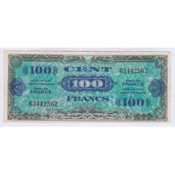 BILLET FRANCE 100 FRANCS DRAPEAU 1944 TTB L'art des ge