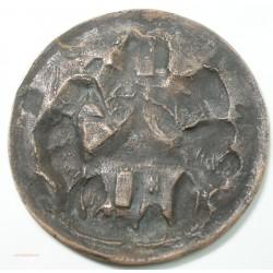 Médaille ancienne uniface du Village de BRIDORE (Indre et Loire)