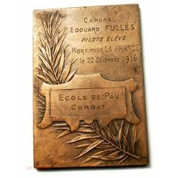Médaille plaque Ligue Aéronautique par E.BLIN décerné 1916 à Pau