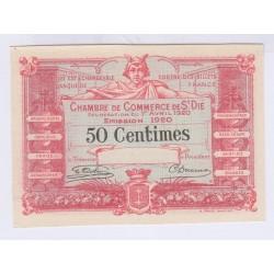 FRANCE 50 CENTIMES CHAMBRE DE COMMERCE DE SAINT DIE 1 AVRIL 1920 L'ART DES GENTS
