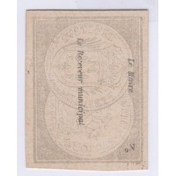 BILLET DE NECESSITE DE MONTARGIS 1 FRANC 1871 P/NEUF L'ART DES GENTS