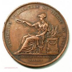 Médaille Exposition de VIENNE 1873 par CAQUE, lartdesgents.fr