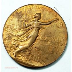 Médaille Courage Patrie Moralité, Gymnastique 1873 par Alphée DUBOIS, lartdesgents.fr