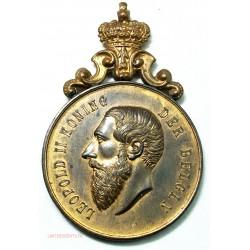 Médaille BELGIQUE LEOPOLD II prix de chevaux à  WAREGHEM 1904, lartdesgents.fr