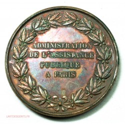 Médaille Assistance Publique 1866 Pharmacie, lartdesgents.fr