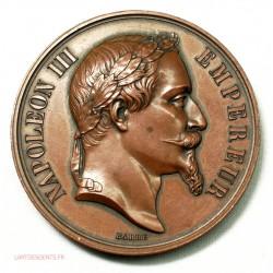 Médaille Argent, Napoléon III Ministère Agriculture, GRENOBLE 1864 par BARRE