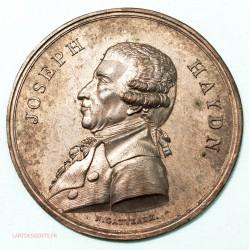 devant de Médaille uniface Joseph HAYDN par N.Gatteaux