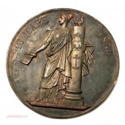 devant de Médaille uniface 16 MARS 1830 par CAUNOIS.F