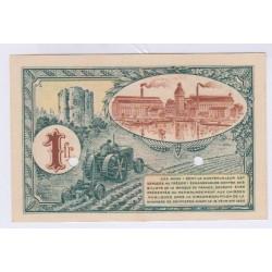 SPECIMEN 1 FRANC 16-02-1920 CHAMBRE DE COMMERCE DE CORBEIL L'ART DES GENTS AVIGNON