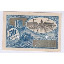 SPECIMEN 50 CENTIMES 1920 CHAMBRE DE COMMERCE DE  CORBEIL L'ART DES GENTS