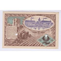SPECIMEN 2 FRANCS 16-02-1920 CHAMBRE DE COMMERCE DE CORBEIL L'ART DES GENTS AVIGNON