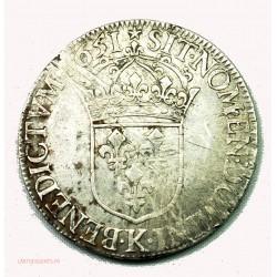 LOUIS XIV, écu 1651K Bordeaux, lartdesgents.fr Avignon