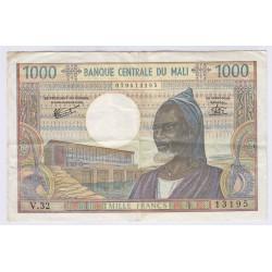 BILLET DU MALI 1000 FRANCS L'ART DES GENTS AVIGNON