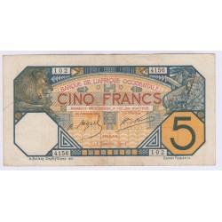 BILLETS AFRIQUE OCCIDENTALE 25 FRANCS 1942 LETTRE Y L'ART DES GENTS AVIGNON