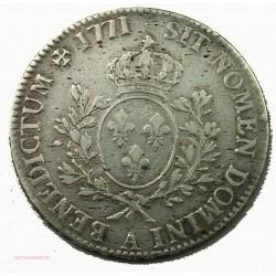 LOUIS XV écu 1771A Paris 2° semestre à la vieille tête, lartdesgents.fr