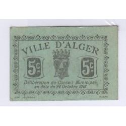 50 CENTIMES CHAMBRE DE COMMERCE ALGER 24 OCT 1916 L'art des gents Avignon