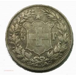 SUISSE - 5 FRANCS 1892 HELVETIA, lartdesgent numismatique