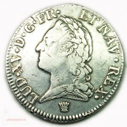 LOUIS XV écu 1774 I Limoges à la vieille tête, lartdesgents.fr