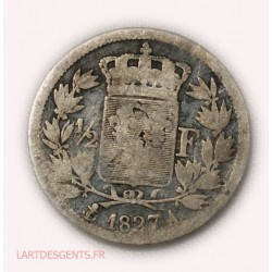CHARLES X - demi Franc 1827 A Paris, lartdesgents.fr