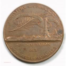 Médaille Ministère des finances Adm. des monnaies et Médailles par Oudiné