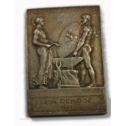 Médaille Plaque, encouragement à l'art det l'industrie 1924 par o.roty