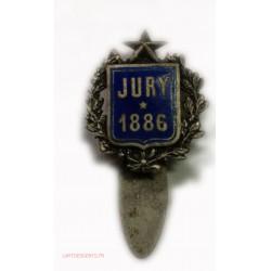 insigne de JURY 1886