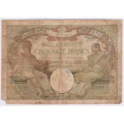 BILLET MADAGASCAR 50 FRANCS 1937  L'ART DES GENTS AVIGNON