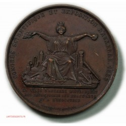 MEDAILLE Expostion d'AUXERRE 1858, par CAQUE.F.
