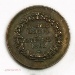 Médaille concours régional Mont-Marsan 1892, lartdesgents.fr