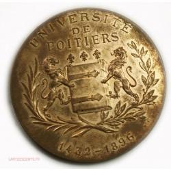 Médaille Université de Poitiers 1432-1896 Bronze dorée par BESSE