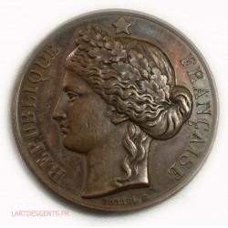 Médaille cuivre argenté Sté des régates Parisiennes, 96grs, lartdesgents.fr