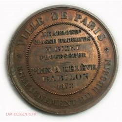 Médaille CERES Enseignement du dessin 1872 par BORREL F.