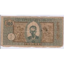 BILLET DU VIETNAM 100 DONG 1947 L'ART DES GENTS AVIGNON NUMISMATIQUE