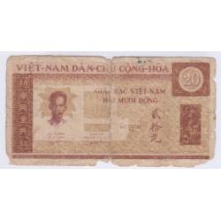 BILLET DU VIETNAM 20 DONG 1946 L'ART DES GENTS AVIGNON NUMISMATIQUE