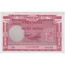 BILLET DU VIETNAM 10 DONG 1955 L'ART DES GENTS AVIGNON NUMISMATIQUE