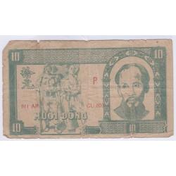BILLET DU VIETNAM 10 DONG 1948 L'ART DES GENTS AVIGNON NUMISMATIQUE