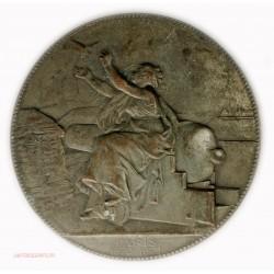 Rare Médaille uniface Communication Aérienne Paris 1870