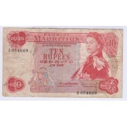 BILLET ILE MAURICE 10 RUPEES 1967 L'ART DES GENTS AVIGNON